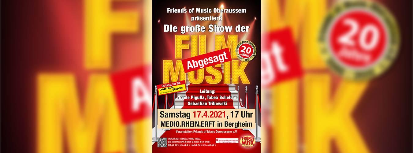 Jubiläumskonzert Friends of Music Oberaußem abgesagt